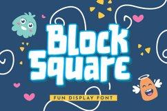 Block Square - Fun Display Font Product Image 1