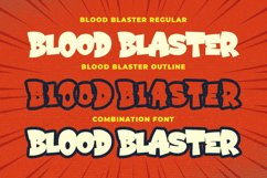 Blood Blaster a Bouncy Cartoon Font Product Image 4