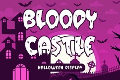 Web Font Bloody Castle - Halloween Display Font Product Image 1