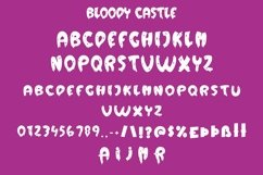 Web Font Bloody Castle - Halloween Display Font Product Image 4