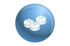 Hanukkah bakery icon, simple style Product Image 1