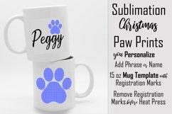 Sublimation - Christmas Paws - three 15 oz. Mug Templates Product Image 3