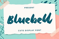 Bluebell - Cute Display Font Product Image 1