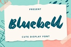 Web Font Bluebell - Cute Display Font Product Image 1
