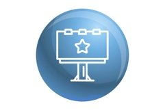 Billboard icon, outline style Product Image 1
