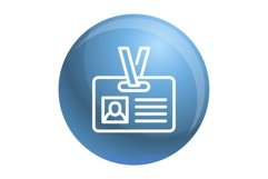 Id badge icon, outline style Product Image 1