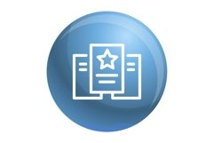 Star paper icon, outline style Product Image 1