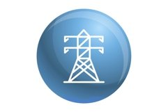 Electric tower icon, outline style Product Image 1