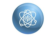 Energy atom icon, outline style Product Image 1