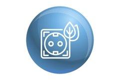 Eco energy socket icon, outline style Product Image 1