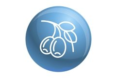 Olive branch icon, outline style Product Image 1