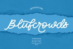 Blufcrowds Classic Script Font Product Image 1