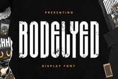 Web Font BODELYED - Display Font Product Image 1