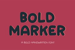 Bold Marker - a fun bold display font Product Image 1