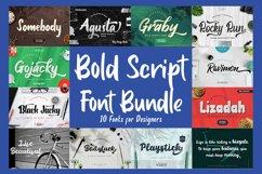 Bold Script Font Bundle Product Image 1
