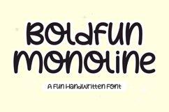Boldfun Monoline - Fun Handwritten Font Product Image 1