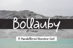 Bollauby - A handlettered Monoline Font Product Image 1