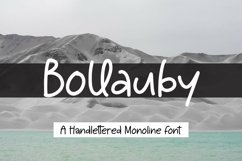Web Font Bollauby - A handlettered Monoline Font Product Image 1