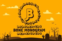 Bone Halloween Monogram Product Image 1