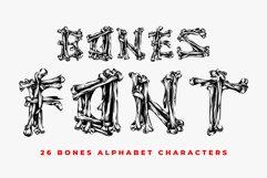 Bones Font - 26 CAPS Alphabet Characters Product Image 1