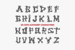 Bones Font - 26 CAPS Alphabet Characters Product Image 2