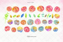 Rainbow Glitter Flowers Clipart| Drawberry CP070 Product Image 2