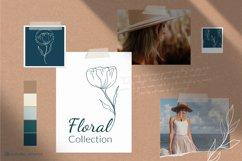 Botanical flower svg Floral line art clipart SVG for elegant stationery, cards, invitation