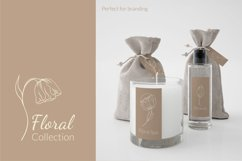 Botanical flower svg Floral line art clipart SVG for cosmetic design, beauty packaging