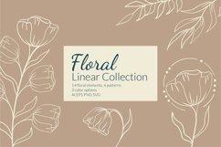 Botanical flower svg Floral line art clipart SVG for wedding invitation design