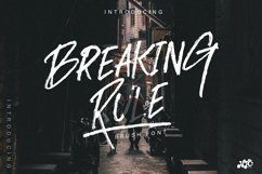 BREAKING RULE - Rough Brush Font Product Image 1