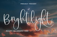 Brightlight - Beauty Calligraphy Font Product Image 1