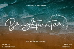 Brightwater - Cool Calligraphy Font Product Image 1
