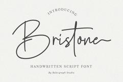 Bristone - Handwritten Script Font Product Image 1