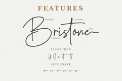 Bristone - Handwritten Script Font Product Image 5