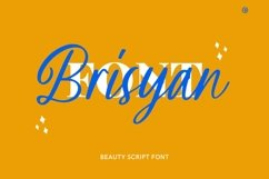 Web Font Brisyan Font Product Image 1
