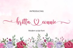 Britta connie   WEBFONT Product Image 1
