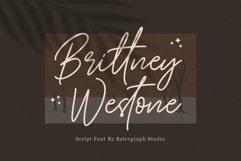 Brittney Westone - Script Font Product Image 1