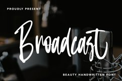 Broadcast - Beauty Handwritten Font Product Image 1