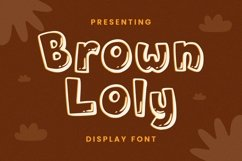 Web Font Brown Loly - Display Font Product Image 1