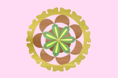 Brown mandala embroidery Product Image 1