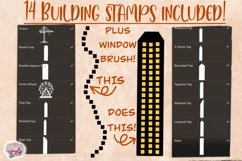 Building Stamps and Window Brush - A PROCREATE Add-On Set Product Image 2