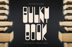 BULKY BOOK - 3 Display Bold Font Product Image 1