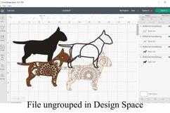 Bull Terrier Mandala Layered SVG - Class Clown Dog Product Image 2