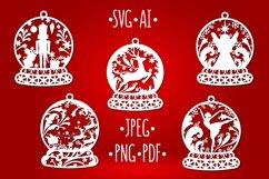 Christmas Bundle snow ball monogram Product Image 2