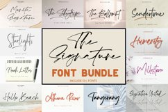 The Signature Font Bundle Sale Product Image 1
