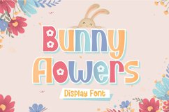 Bunny Flower - Display Font Product Image 1