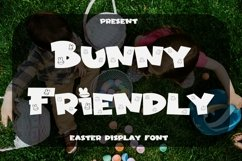 Web Font Bunny Friendly - Easter Display Font Product Image 1