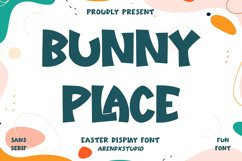 Bunny Place - Easter Display Font Product Image 1