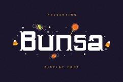 Web Font Bunsa - Halloween Font Product Image 1