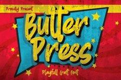 Butterpress - Grungy cartoon font brush Product Image 1